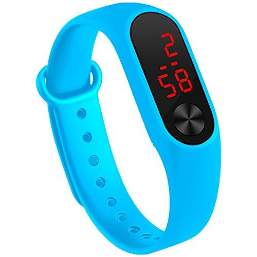 Fan Kouyang LED Uhr Sportuhr wasserdichte leuchtende Digitaluhr Armbanduhr (Minzgrün)