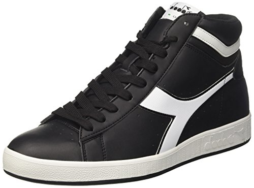 Diadora Game P High, Sneaker a Collo Alto Uomo, Nero, 42.5 EU
