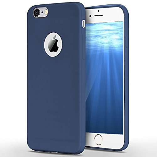 iPhone 6S Hülle, iPhone 6 Hülle, SpiritSun Transparent Handy Hülle für Apple iPhone 6 / 6S (4.7 Zoll) Weich TPU Silikon Schutzhülle Niedlichen Muster Schale Tasche Ultradünnen Etui Anti-stoß Kratzfeste Case Cover - Navy Blau