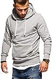 JACK & JONES Herren Hoodie Kapuzenpullover Sweatshirt Pullover Casual Streetwear (XX-Large, Light Grey Melange)
