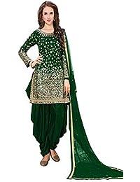 dd263ebc07 Dress Material For Gilrs Tapheta Silk Mirror work Patiyala Dress Material/Salwar  Suit (FZ_40006_Mirror
