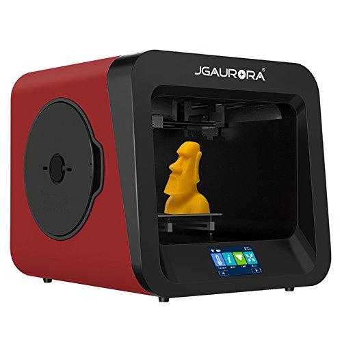 Jgaurora Impresora 3D, A4,extrusor individual, para PLA/TPU, China Rot, 3