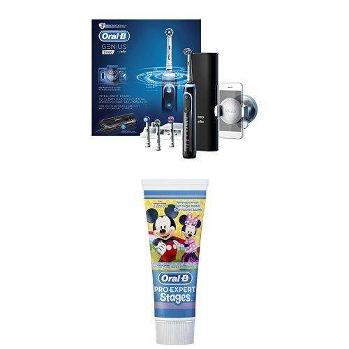 Oral-B Genius 9000 Black Elektrische Zahnbürste inklusive gratis Zahnpflege-Set