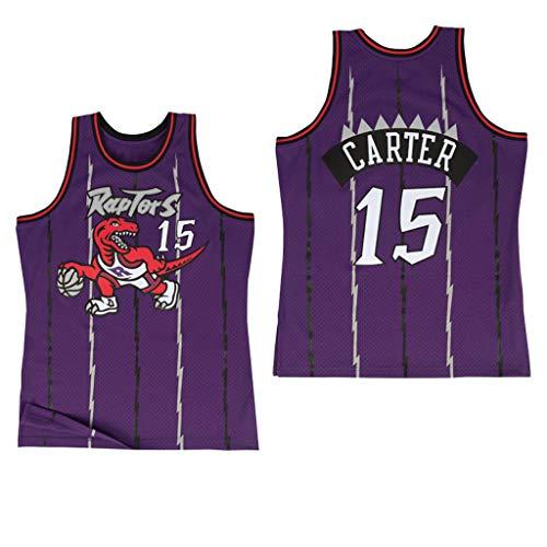 MFsports Toronto Raptors 15# Vince Carter 3D Impresión Jersey, Hombre Baloncesto Sport Jerseys, Hombres Secado rápido Camiseta Chalecos Tops