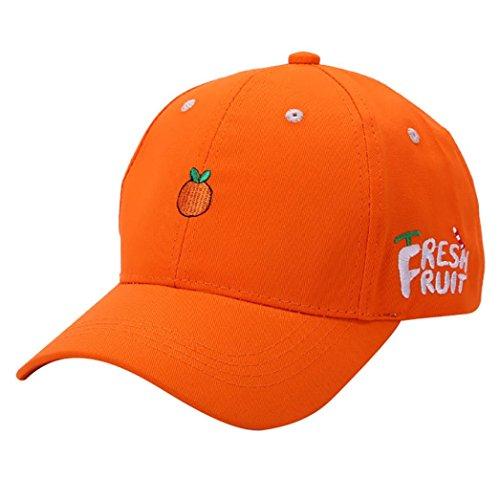 feitong-sommer-frauen-frucht-gesticktes-golf-hut-justierbare-baseballmutze-56-62cm-orange