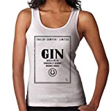 Cloud City 7 Shelby Company Limited Gin Label Peaky Blinders Women's Vest