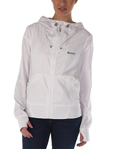 Bench Damen Jacke Bomberjacke Onetimer II B weiß (Bright White) Medium