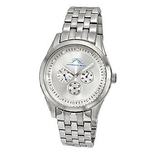 porsamo Bleu Vince Edelstahl Silber Ton Herren Diamant Armbanduhr 751Avis