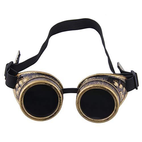 Professionelle Cyber   Goggles Steampunk Gläser Vintage Schweißen Punk Gothic Victorian Outdoor Sports Fahrrad Sonnenbrille