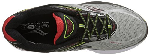 Saucony - Ride 8 - , homme, multicolore (silver/red/citron), taille 40.5 multicolore (Silver/Red/Citron)