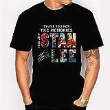 JJZHY Le Motif de thème The Avengers de Marvel T-Shirt Mode pour Homme de Stan Lee Noir,Noir,M