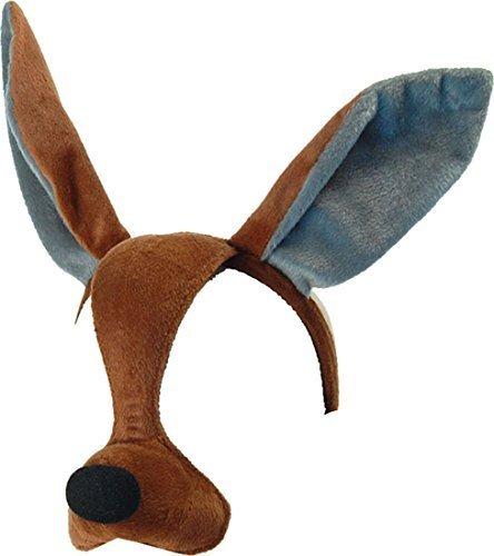 Kangaroo Kostüm Kinder (Ausgefallen Party Zubehör Wildtiere Animal Buch Woche Kostüm Gesichtsmaske Mit Ton -)