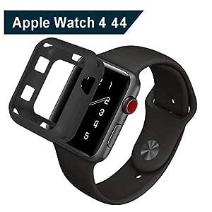 Vicstar Apple Watch 4 44mm Hülle, Leichte Weiche Silikon TPU Schutzhülle für Apple Watch 4 44mm Rundherum Schutz Schlankes Case für Apple Watch 4 44mm