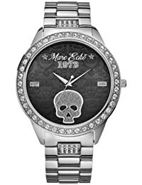 Marc Ecko Gents The Havoc Skull Black Dial With Stainless Steel Bracelet
