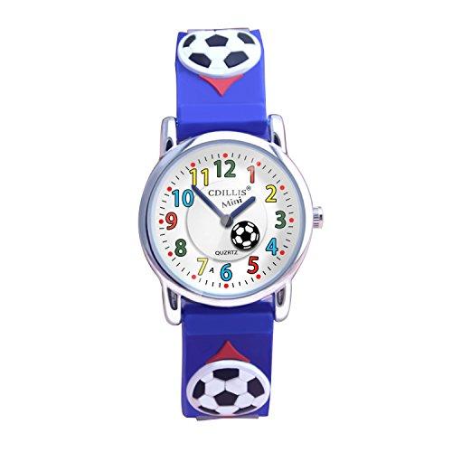 Kinder Uhr meine ersten Easy Reader Armbanduhren Jungen Mädchen Kleinkind wasserdicht Kinderzeit Lehrer 3D Cute Cartoon Silikon Quarz lernen Geschenk für kleines Kind