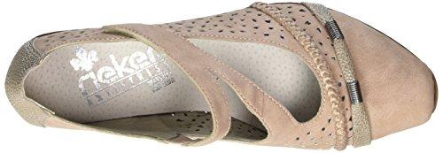 Rieker 43706, Scarpe con Tacco Donna Multicolore (Altrosa/perle-silber/rose / 33)
