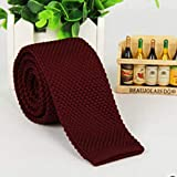 Fashion Men's Tie Knit Knitted Tie Necktie Narrow Slim Skinny Woven L3 : Wine