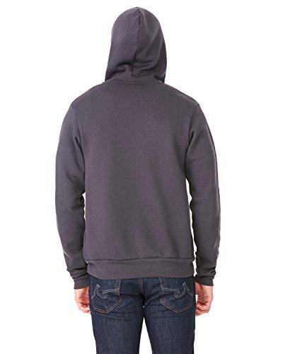 Bella+Canvas: Unisex Poly-Cotton Full Zip Hoodie 3739 Dunkelgrau