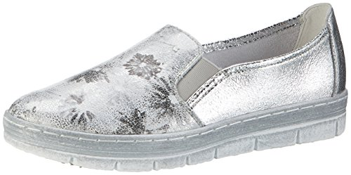 Remonte D5802, Mocassini Donna Argento (Weiss/silber/silber/90)