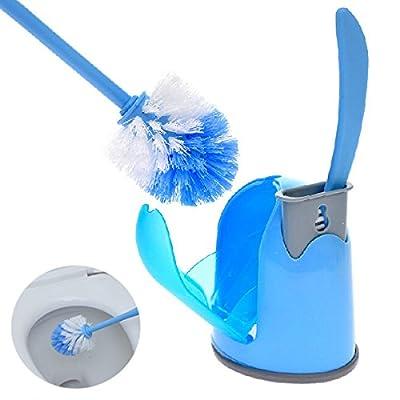 [ Kostenlose Lieferung - 7-12 Tage] Toilettenbürstengarnitur mit Bodenplatte Reinigung Brushs Blau Gelb BML® // Toilet Brush Set With Base Plate Cleaning Brushs Blue Yellow von BML - Heizstrahler Onlineshop