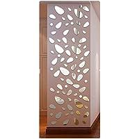 Tefamore Pegatina De Pared De 12Pcs arte desprendible DIY de la decoración del hogar de la etiqueta engomada de la pared del vinilo del espejo 3D