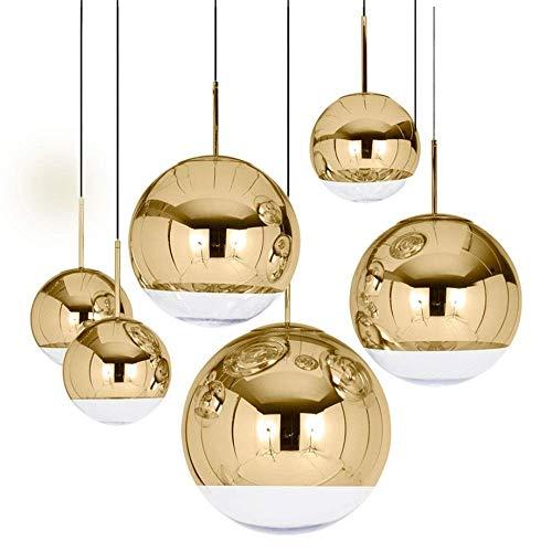 ndelleuchte Fitting Kit Pendelleuchte Moderne Nordic Spiegel Beschichtung Ball Kronleuchter Gast Restaurant Treppe Lampe Cafe Office Bar Dekoration Lampen Licht Schatten Halter ()