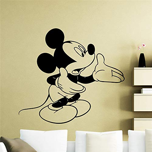 Wandtattoo Schlafzimmer Mickey Minnie Mouse Wall Art Decal Sticker Mickey Mouse Wall Decal Cartoon Home Decor Nursery Kids Boy Girl Room Removable Pvc Vinyl Wall - Wandtattoos Boy Disney