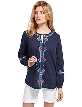 Tom Tailor für Frauen Shirt / Blouse Bluse mit Stickerei