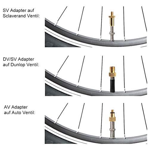 Kohmui Fahrradventil Adapter, 15er Premium Set ASIN