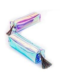 WRITIMN Caso matita laser iridescente Set 2 qualità Forniture scolastiche  Pu Bt Cartoleria regalo Astuccio per bca8f6413c15