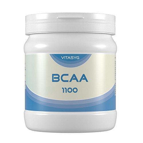 Vitasyg BCAA 1100 - 300 Kapseln mit 1100 mg BCAA pro Kapseln - mit Vitamin B6 - Made in Germany, 384 g