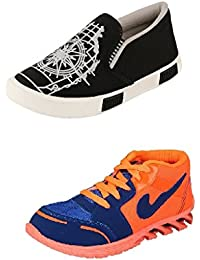 Jabra Perfect Combo Of 2 Shoes- Sneakers And Loafers In Various Sizes - B06XVZ6GKF
