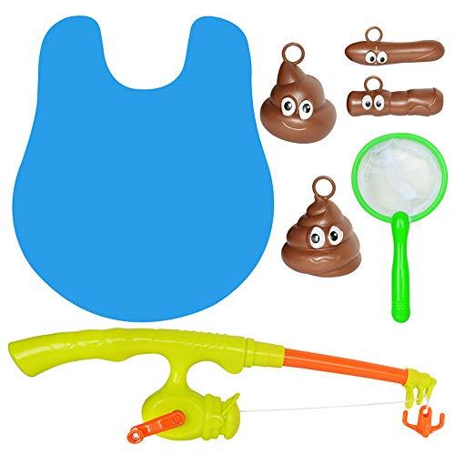 Igemy Toilette Angeln Spiel Marine Biologische Kognitive Angeln fit Floaters Puzzle Spielzeug (Mehrfarbig)