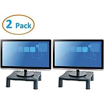 tsirtech lot de 2 supports hauteur r glable pour cran jusqu 39 61 cm imprimante tag re de. Black Bedroom Furniture Sets. Home Design Ideas