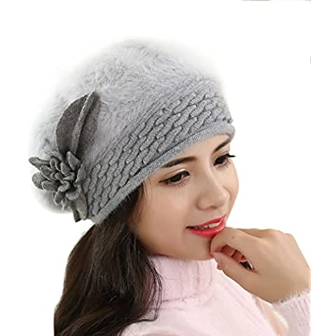 Tongshi Nuevas mujeres Slouchy Baggy invierno cálido suave Knit Crochet Hat