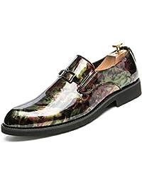 JIALUN-Scarpe Moda da Uomo Business Oxford Casual Personality Fashion Retro  Brush Colore Traspirante Scarpe dec08feaa4a