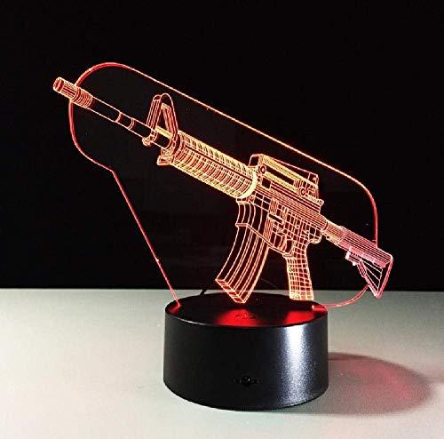Pistola 3D LED Luz De Noches USB Luz De Noche Iluminación