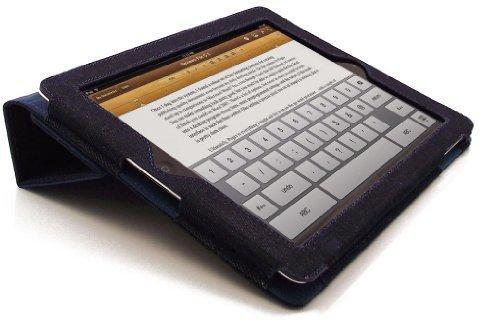 LuvTab Apple iPad Tasche Case Hülle, Mit Aufsteller Funktion, Unterstützt Sleep / Wake Smart Cover Funktion, Alle iPad 2, 3 & 4 Modelle (2011 & 2012 - neue iPad mit Retina / HD display), Blau 'Denim'