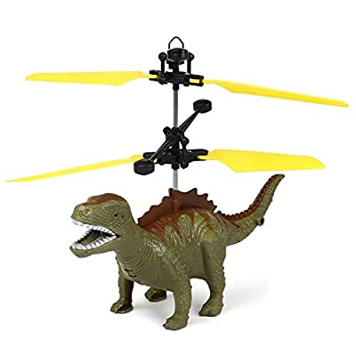 Kid Toys Sale!! Hand Flying Dinosaur LED Mini Induction Suspension RC Aircraft Flying Toy Drone