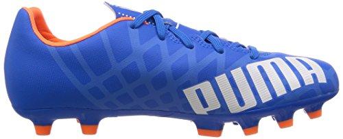 Puma - Evospeed 5.4 Ag Jr, Scarpe Da Calcio infantile Blu (Blau (electric blue lemonade-white-orange clown fish 03))