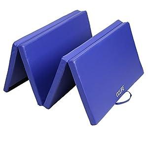 Tragbar Klappbar Gymnastikmatte Blau - CCLIFE Weichbodenmatte Yogamatte...
