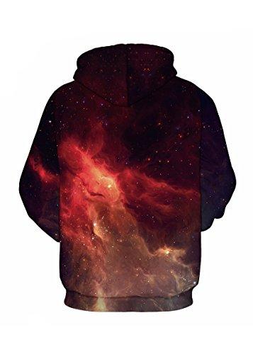 Sanrense Galaxy Hoodie Männer Bunte HD 3D gedruckte Pullover Unisex Langarm Lustige Weihnachten Patterned Sweatshirts für Teens Pullover Flame
