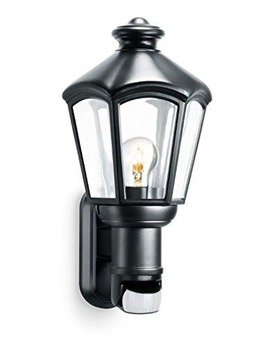Mundgeblasenes Glas Wandlampen (Steinel Wandleuchte L 562 S, 140° Bewegungsmelder, schwenkbarer Sensor, max. 60 W, klassische Optik, E27)