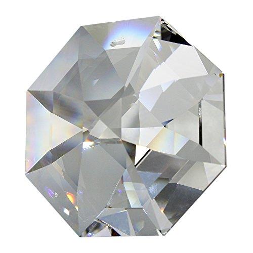 SWAROVSKI STRASS Koppe Crystal Octagon 60mm Riesen Kristall Diamant Hochwertiger Vollschliff Kristall für Kronleuchter und Dekorationszwecke reich an Regenbogenfarben mit Geschenkbeutel -