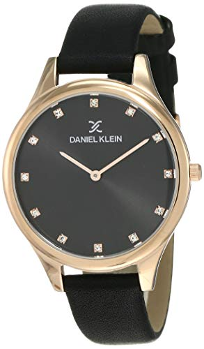 Daniel Klein Analog Black Dial Women's Watch-DK12091-6