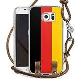 Samsung Galaxy S6 Carry Case Hülle Zum Umhängen Handyhülle mit Kette Germany Deutschland Flag