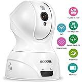 GooDee 720P HD P2P drahtlose IP Kamera 2.4GHz Wlan/Wifi Babyfon Indoor Heim Home Security Überwachungskamera(mit deutscher App 15m Nachtsicht, Zweiwege-Audio, SD Karte, Bewegungserkennung, Schwenk-/Neigefunktion, MacBook/Windows PC, IOS/Android)