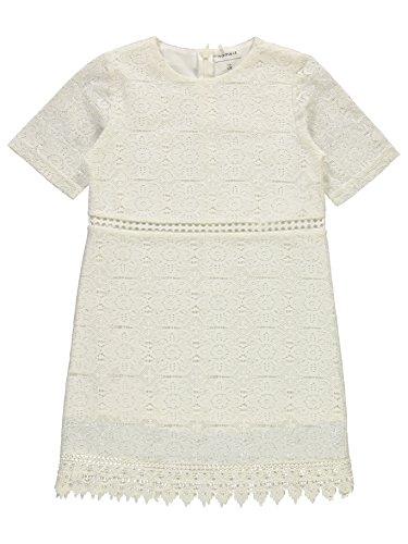 Name it Mädchen Kleid Spitze NKFISUSAN LACE DRESS 13150342 bight white Gr.152