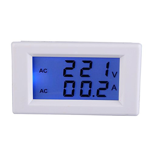 Amperemeter, Digital AC 100-300V 50A Amperemeter Voltmeter LCD Volt Ampere Panel Meter (Ampere-meter)