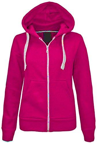 Janisramone Kinder Mädchen & Jungen Unisex Neu Ebene Vlies Zip nach Oben Hoodie Jacke Lange Ärmel Sweatshirt Mantel Lange Ärmel Sweatshirt